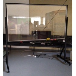 Стеклянная прозрачная доска с подсветкой Askell Video 120x100 см