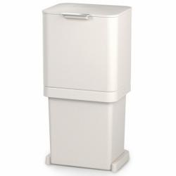 Контейнер для мусора с двумя баками totem pop 60 л белый, Joseph Joseph
