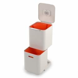 Контейнер для мусора с двумя баками totem compact 40 л белый, Joseph Joseph