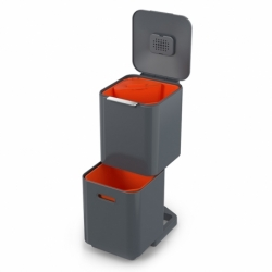 Контейнер для мусора с двумя баками totem compact 40 л графит, Joseph Joseph