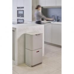 Контейнер для мусора с двумя баками totem max 60 л белый, Joseph Joseph