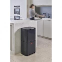 Контейнер для мусора с двумя баками totem max 60 л графит, Joseph Joseph