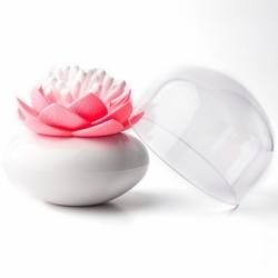 Контейнер для хранения ватных палочек lotus белый-розовый, Qualy