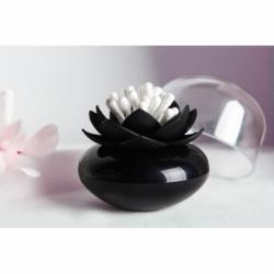 Контейнер для хранения ватных палочек lotus черный, Qualy