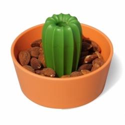 Миска для снеков cacnuts, оранжевая с зеленым, Qualy