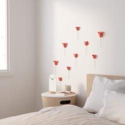 Декор для стен Bloomer 9 элементов коралловый, Umbra
