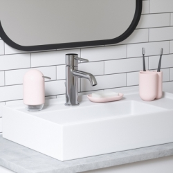 Стакан для зубных щеток touch розовый, Umbra