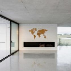 Карта-пазл wall decoration, 180х108 см, коричневая, MiMi