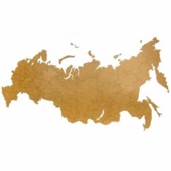"""Карта-пазл wall decoration """"Российская Федерация, 98х53 см коричневая, MiMi"""