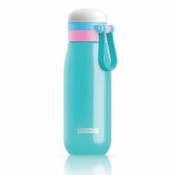 Бутылка вакуумная из нержавеющей стали 500 мл бирюзовая, Zoku