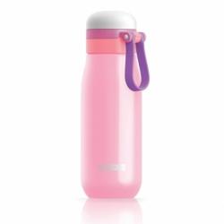 Бутылка вакуумная из нержавеющей стали 500 мл розовая, Zoku