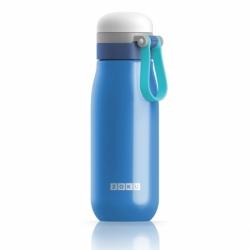 Бутылка вакуумная из нержавеющей стали 500 мл синяя, Zoku