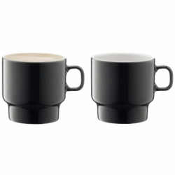 Набор из 2 чашек для флэт-уайт кофе Utility 280 мл серый, LSA International