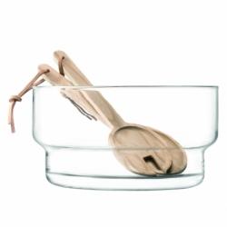 Блюдо глубокое utility с деревянными приборами d27 см, LSA International