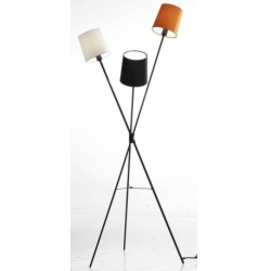 Лампа напольная Dexter, белый, черный и оранжевый абажуры, Frandsen