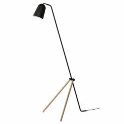 Лампа напольная Giraffe, дуб, черное матовое основание, Frandsen