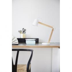 Лампа настольная Play белая матовая, ясень, белый шнур, Frandsen