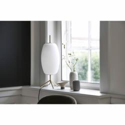 Лампа настольная Silk D20 см белое опаловое стекло, Frandsen