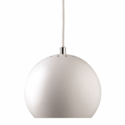 Лампа подвесная Ball белая матовая, белый шнур, Frandsen