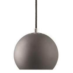Лампа подвесная ball, темно-серая матовая, черный шнур, Frandsen