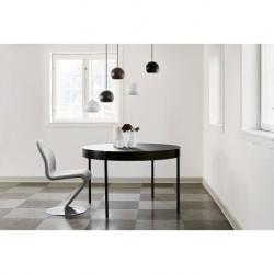 Лампа подвесная ball, черная матовая, черный шнур, Frandsen