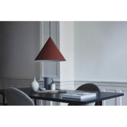 Лампа подвесная benjamin xl, темно-красная матовая, черный шнур, Frandsen