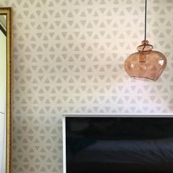 Лампа подвесная grace, d30 см, бронзовое стекло, бронзовый цоколь, Frandsen
