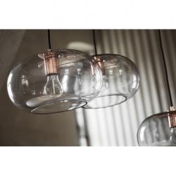 Лампа подвесная kobe, дымчатое стекло, черный цоколь, шнур 250 см, Frandsen