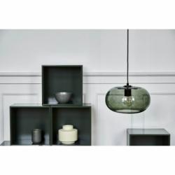 Лампа подвесная kobe, зеленое дымчатое стекло, черный цоколь, Frandsen