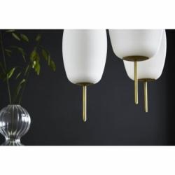 Лампа подвесная silk, d20 см, белое опаловое стекло, Frandsen