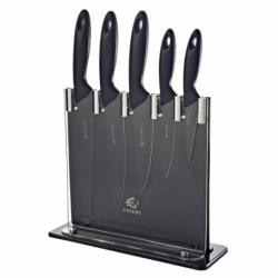 Набор из 5 ножей и подставки silhouette чёрный, Viners