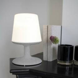 Лампа настольная light to go organic серая, Koziol