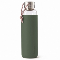 Бутылка для воды стеклянная 600 мл оливковая, Black+Blum