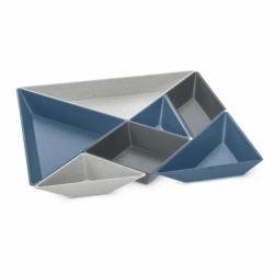 Менажница Tangram Ready Organic синяя-серая, Koziol