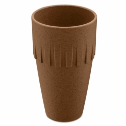 Кружка для латте connect organic 400 мл коричневая, Koziol