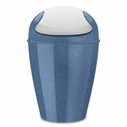 Корзина для мусора с крышкой Del M Organic 12 л синяя, Koziol
