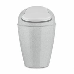 Корзина для мусора с крышкой del s organic 5 л серая, Koziol