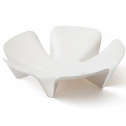 Ваза для фруктов flower белая, Qualy