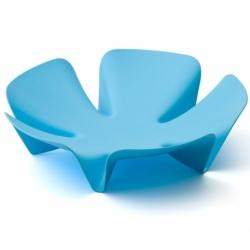 Ваза для фруктов flower голубая, Qualy