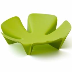 Ваза для фруктов flower зеленая, Qualy