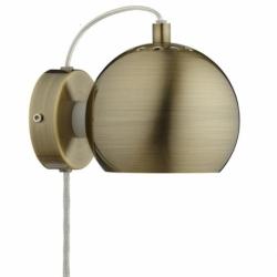 Лампа настенная ball, античная латунь, матовое покрытие, Frandsen