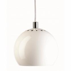 Лампа подвесная ball, белая глянцевая, Frandsen