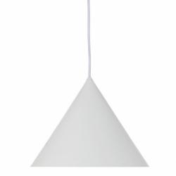 Лампа подвесная benjamin xl, белая матовая, белый шнур, Frandsen