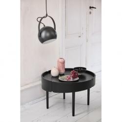 Лампа потолочная ball с подвесом, d18 см, черная матовая, Frandsen