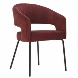 Кресло ariadna, вельвет, бордовое, Berg