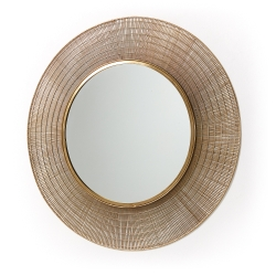 Зеркало Plax в латунной раме, La Forma (ex Julia Grup)