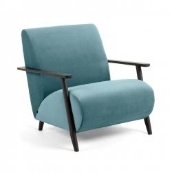 Кресло Marthan зеленый бархат подлокотники черные, La Forma (ex Julia Grup)