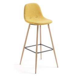 Барный стул Nilson горчичный CC0276J81, La Forma (ex Julia Grup)