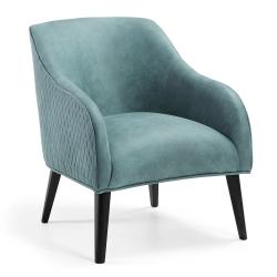 Кресло Lobby зеленое черные ножки, La Forma (ex Julia Grup)