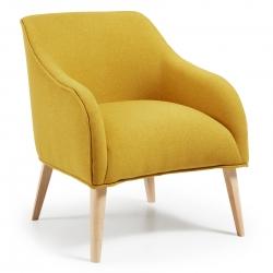Кресло Lobby желтое, La Forma (ex Julia Grup)